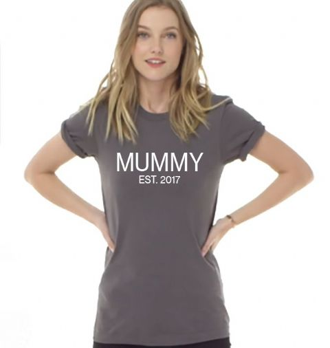 MUMMY EST YEAR Slogan T-Shirt Mothers Day